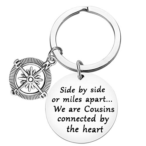 Cousin Gift Cousin Keychain We are Cousins Connected by The Heart Key Chains Long Distance Relationship Gift Cousin Jewelry Gift Going Away Gift for Cousin Graduation Birthday Christmas Gift