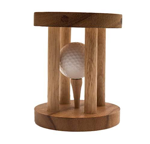 ROMBOL Golfball im Knast, EIN lustiges Geschenk Nicht nur für Golf-Fans, Holzspiel, Denkspiel, Knobelspiel, Geduldspiel aus Holz
