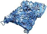 Red De Camuflaje Azul, 3X3m Malla De Camuflaje Militar, Red De Sombra Jardín Cazar Disparar Acampar Al Aire Libre Decoración Jungle Hidden Patio Velas De Sombra Pantalla De Privacidad 3X4(Size:2x8m)