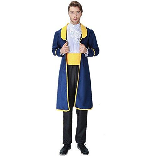 xiemushop Disfraz de Principe para Adulto Cosplay Principe Bestia Traje Medieval Halloween Carnaval Talla M