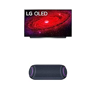 "LG OLED48CXPUB Alexa Built-in CX 48"" 4K Smart OLED TV (2020) w/ PL7 XBOOM Go Water-Resistant Wireless Bluetooth Party Speaker (B08NYMP5X7) 