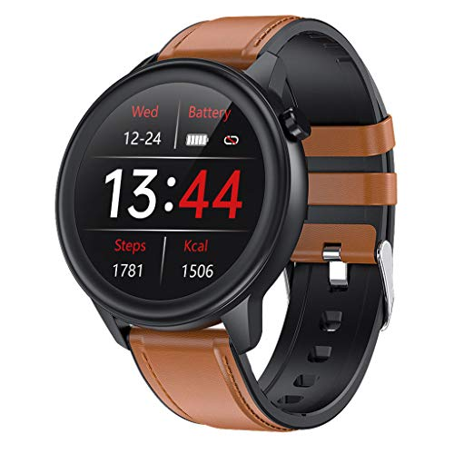 APCHY Reloj Inteligente Smartwatch para Hombres,Rastreadores De Actividad De Monitoreo De La Temperatura Corporal,Frecuencia Cardíaca,Presión Arterial, Oxígeno En La Sangre,E