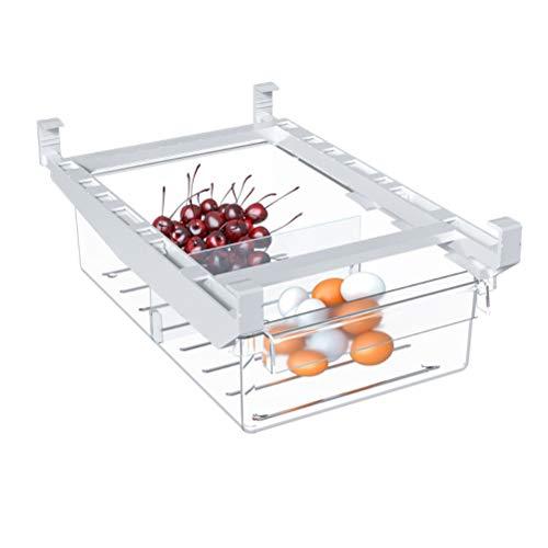 Bireegoo 1 caja de almacenamiento para nevera, almacenamiento de frutas, verduras, estante duradero para cocina, frutas, contenedor de almacenamiento para nevera, organizador de cajón de frutas