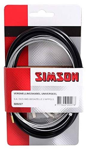 Simson-NL schakelkabelset S.A./Gazelle zwart grijs, zwart, 1 set
