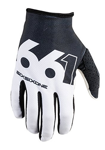 SixSixOne Comp Slice Handschuh, black/white, S