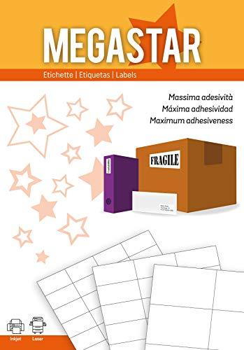 Megastar LP4MS-5230 - Pack 100 hojas etiquetas