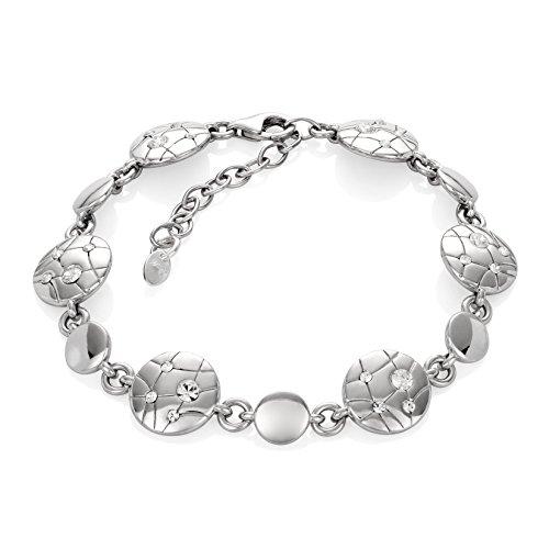 LillyMarie Damen Armband Silber 925 Swarovski Elements Rund Längen-verstellbar Hochwertiges Etui aus Holz Geburtstagsgeschenke für Frauen