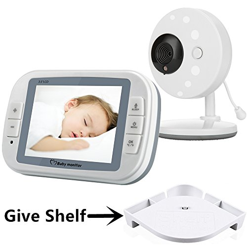 Minilabo Video Baby Monitor 3.5 inch Wireless Baby Camera Temperature Monitors...