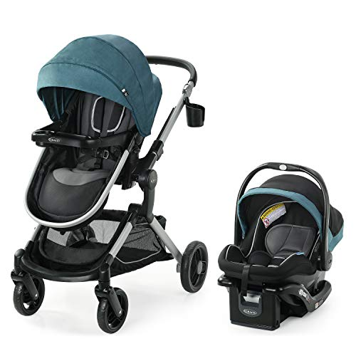 Graco Modes Nest Travel System | Includes Baby Stroller with Height Adjustable Reversible Seat, Bassinet Mode, Lightweight Aluminum Frame and SnugRide 35 Lite Elite Infant Car Seat, Bayfield