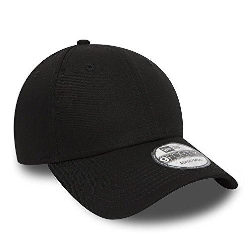 New Era Men's NE Basic 9FORTY BLKWHI Baseball Cap, Black-Black, One Size