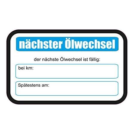 1 X Aufkleber 25 Stück Nächster Ölwechsel Km Werkstatt Inspektion Sticker Pkw Auto