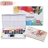 LAOYE Aquarellfarben Set 36 kräftige Wasserfarben Set - Aquarellfarbkasten inkl. 36 Wasserfarben +...
