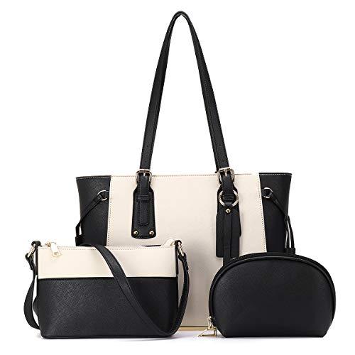 JOSEKO borsa da donna, borsa a tracolla, borsa a tracolla, misura grande, borsa a tre pezzi, elegante, semplice e generosa