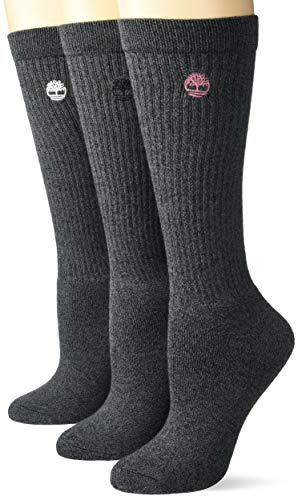 Timberland Damen Ribbed Full Cushioned Boot Socks Freizeitsocken, schwarz, Einheitsgröße