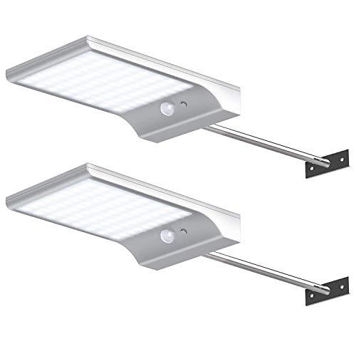 innogear Solar Gosse Lichter Wandleuchter mit Montage Pole Außenbereich Bewegungsmelder Licht Sicherheit Beleuchtung für Barn Veranda Garage