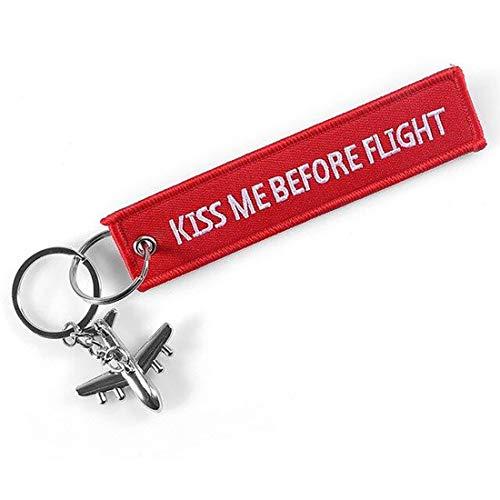 DonJordi Kiss me Before Flight Portachiavi con piccolo aereo – Ciondolo come Remove Before Flight