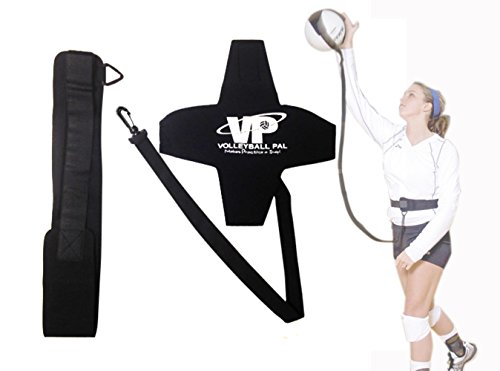 Tandem Sport Volleyball Pal Warm Up Training Aid for Solo Practice - Returns Ball After Every Swing - Adjustable Elastic Cord and Waist Strap