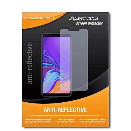 SWIDO Schutzfolie für Samsung Galaxy A9 (2018) [2 Stück] Anti-Reflex MATT Entspiegelnd, Hoher Festigkeitgrad, Schutz vor Kratzer/Bildschirmschutz, Bildschirmschutzfolie, Panzerglas-Folie
