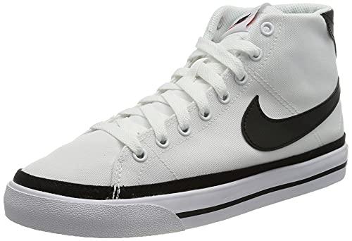 Nike Court Legacy Mid Canvas, Scarpe da Tennis Uomo, Bianco Nero, 42.5 EU