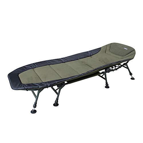 AGEM Karpfenliege 8 Bein Angelliege Campingbett Klappbar Bedchair Angeln Liege Campingliege 200cm