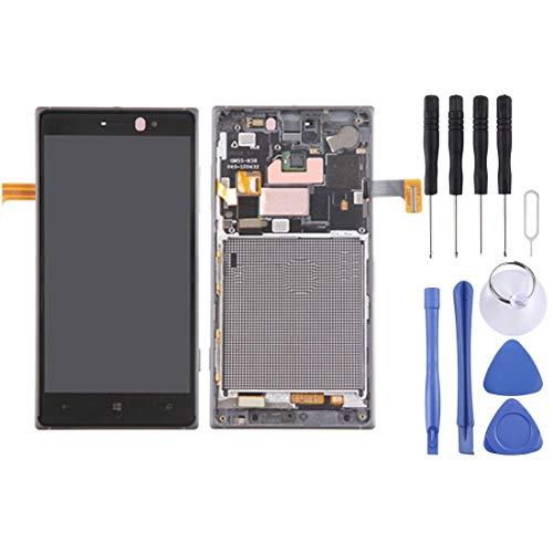 JIANGHONGYANN Display LCD di Ricambio digitalizzatore Tocco Schermo LCD e digitalizzatore Assemblaggio Completo con Cornice for Nokia Lumia 830 (Nero) (Colore : Silver)
