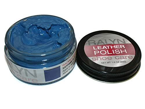 Made in USA RALYN Shoe Care Leather Polish. Shoe Polish. Many Colors available. 1.6 oz Jar (Sapphire Blue #21)