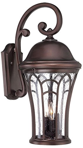 Acclaim 39522ABZ Highgate Collection 3-Light Outdoor Light Fixture Wall Lantern, Architectural Bronze