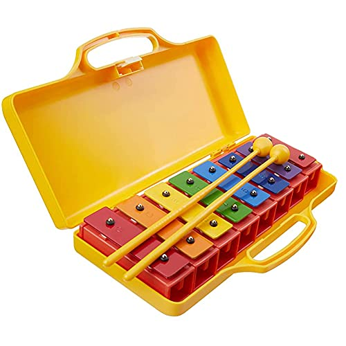 8 Note Kids Xylophone Chromatic Glockenspiel Musical Instrument Wooden...