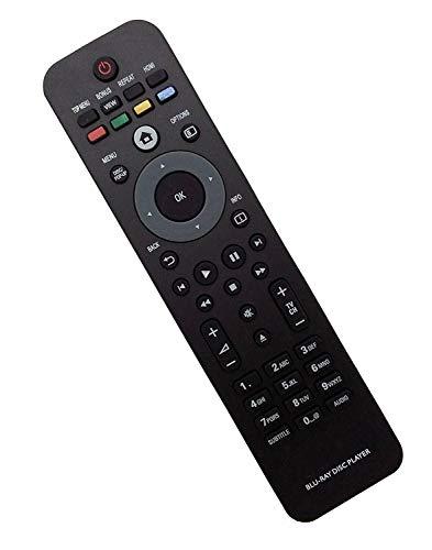 Replacement Remote Control for Philips Blu-ray DVD Disc Player Remote BDP5010/F7E BDP5012 BDP5012/F7B BDP2205