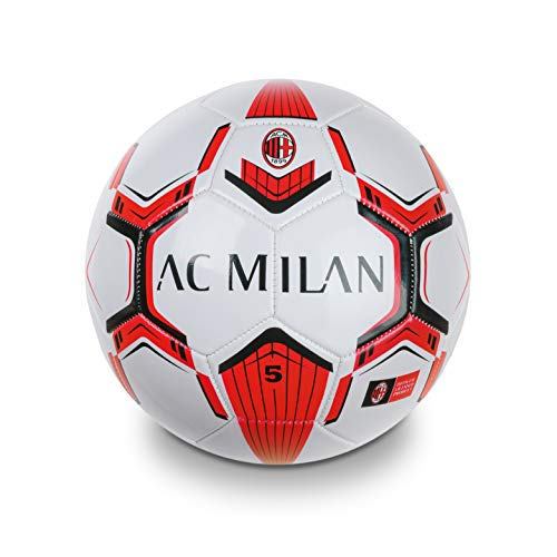 Mondo Toys - Pallone da Calcio cucito A.C. Milan - size 5 - 350 g - colore nero/azzurro - 13632