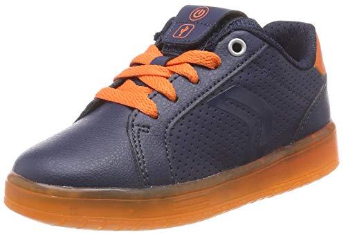 Geox Jungen J KOMMODOR Boy B Sneaker, Blau (Navy/Orange C0659), 31 EU