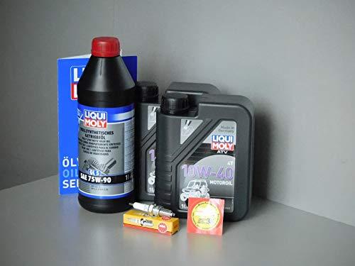 MotorFunSports  Quad Explorer Argon 330 - Set de Mantenimiento para inspección con Filtro de Aceite, Aceite y Vela
