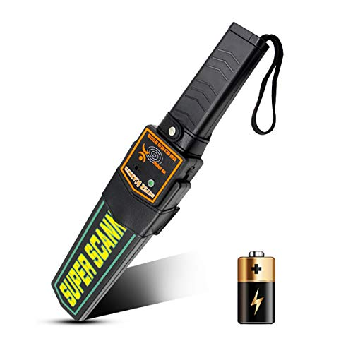 Small Handheld Metal Detector Security Wand Safety Bars,Portable Battery Powered Adjustable Sensitivity, Sound Vibration Alarms,Security Scanner Detects Weapons,Knives,Screw