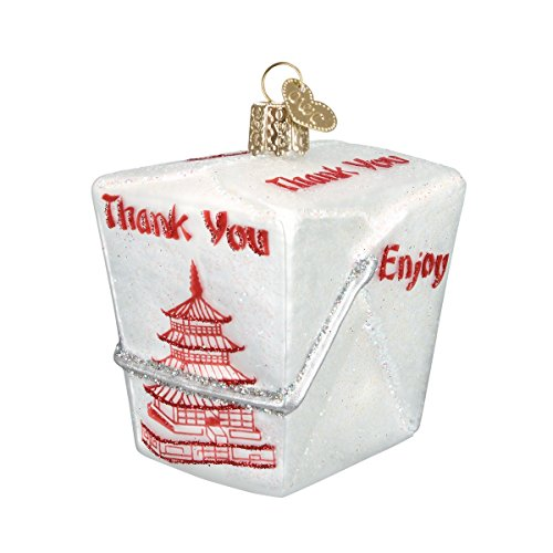 Old World Christmas Various Foods Glass Blown Ornaments for Christmas Tree Chinese Take-Out