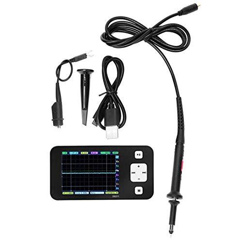EVTSCAN Ultime con porta micro USB DSO 200KHz 1Msa S Oscilloscopio digitale DS211 Mini oscilloscopio tascabile portatile Mini oscilloscopio digitale portatile a memoria per archiviare file