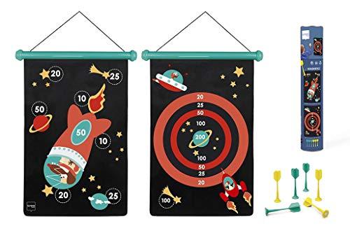 Scratch 6182001 6182001-Dartspiel für Kinder, Astronaut, groß, magnetisch, 70 x 36 cm