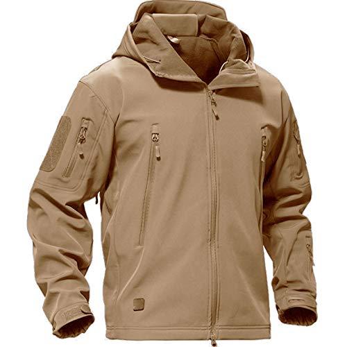Casivent Herren Taktische Armee Outdoor Mantel Camouflage Softshell Jacke Jagdjacke XXX-Large braun
