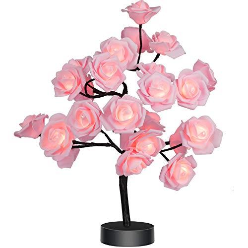 Table Lamp Rose Flower Desk Tree Lamp...