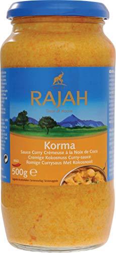 Rajah Korma Cremige Kokosnuss Curry-Sauce – Milde Fertigsauce – 2 x 500 g