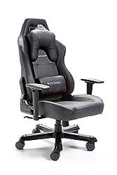 DX Racer12 Gamingstuhl Schreibtischstuhl Bürostuhl Gaming chair Wide Serie schwarz 69 x 127-134 x 76 cm 62542NR4