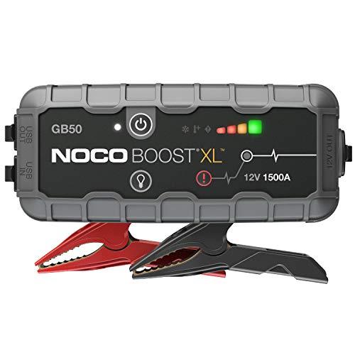 NOCO Boost XL GB50, 12V 1500A Booster Batterie Voiture, UltraSafe Lithium Jump Starter, et Pack de Démarrage Voiture pour Moteurs Essence Jusqu'à 7-Litres et Moteurs Diesel Jusqu'à 4-Litres