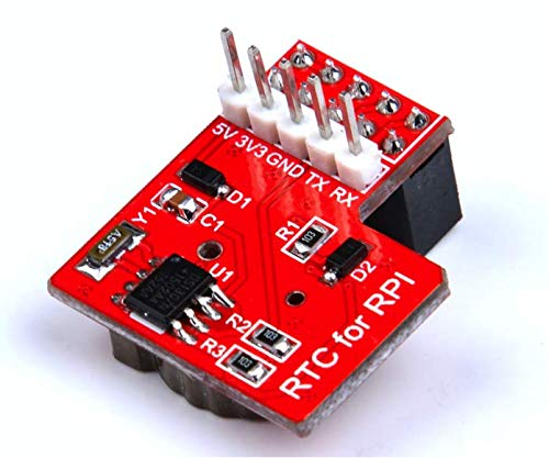 CQRobot Raspberry Pi RTC Real Time Clock Module - Compatible Raspberry Pi 3, Use I2C Communication Mode, Onboard DS1307 Clock Chip and a 1220 Coin Cell Battery.