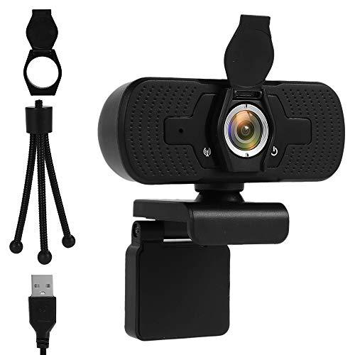 Ghopy Webcam 1080P Full HD con micrófono estéreo, cámara web PC USB 2.0 con tapa, para grabación, llamadas de vídeo, streaming y conferencias, compatible con Windows, Mac, Android, Google, Skype