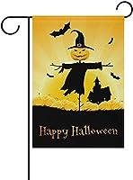 フラッグ ハロウィーンの日かかぼちゃカボチャとコウモリガーデンフラグバナー屋外ホームガーデンフラワーポットの装飾のための 30 x 45cm