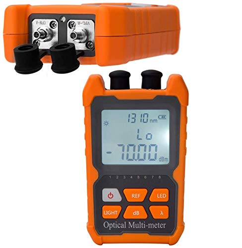 D YEDEMC Fiber Optic Cable Tester Portable Optical Power Meter FC/SC/ST universal interface Fiber Tester Built-in 1Mw Visual Fault Locator (OPM&VFL)
