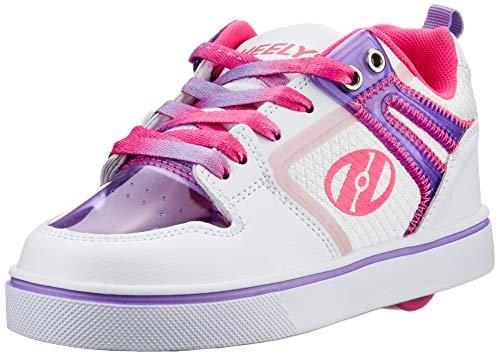 Heelys Motion 2.0, Zapatos con Ruedas Niñas, White/Pink/Lavender, 31 EU