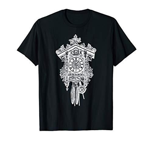 Kuckucksuhr Schwarzwald Holz Handwerk T-Shirt