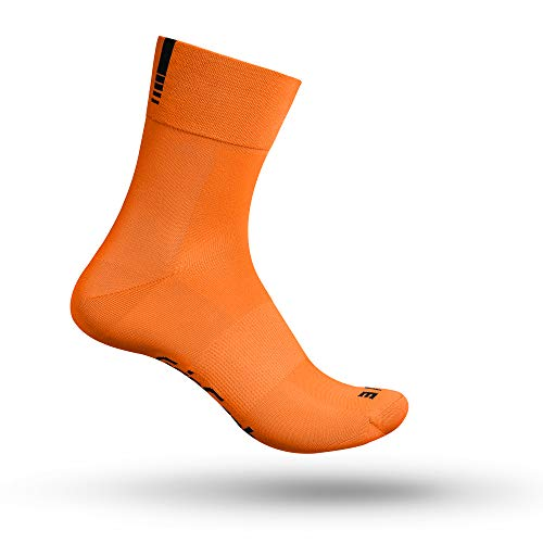 GripGrab Lightweight SL Unisex Socken, Orange Hi-Vis - lang, M (41-44)