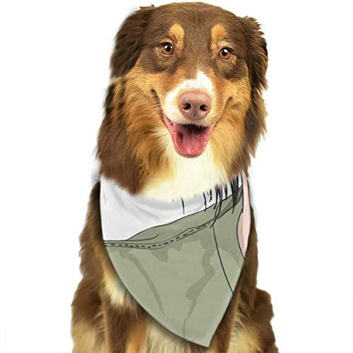 Korte Haar Meisje Aangepaste Hond Hoofddoek Heldere Gekleurde Sjaals Leuke Driehoek Bibs Accessoires Voor Huisdier Honden