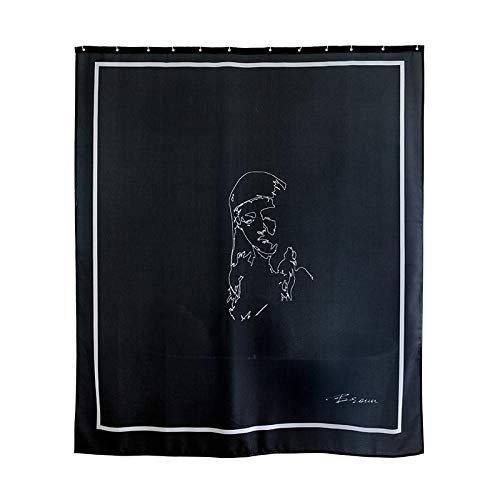 PEIWENIN Rideau de Douche Salle de Bain Polyester moisissure imperméable à l'eau épaississement Isolation Rideau de séparation Toilette, Largeur: 180cm * Hauteur: 240cm